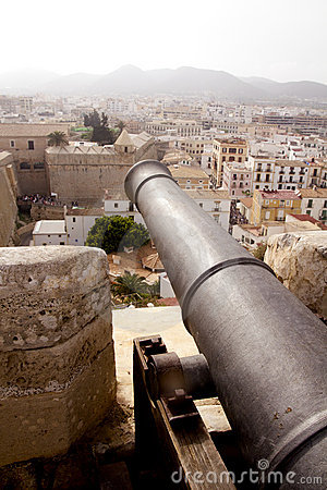Cannon from Ibiza island castle