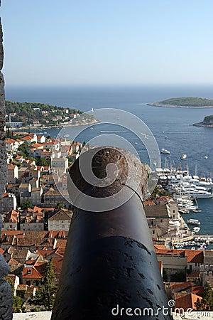 cannon - Island Castle Croatia