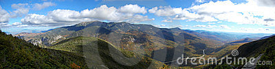 Cannon Mountain top panorama in New Hampshire