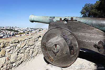 Cannon Of Saint George Castle Stock Images - Image: 23563184