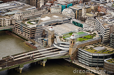 Cannon Street Station and bridge, London