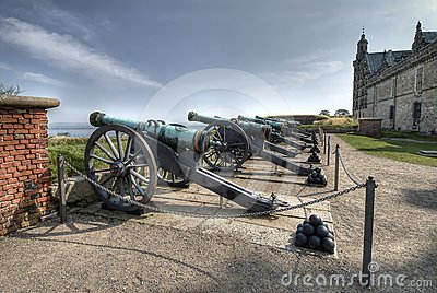 Cannons at Hamlet s Castle of Kronborg