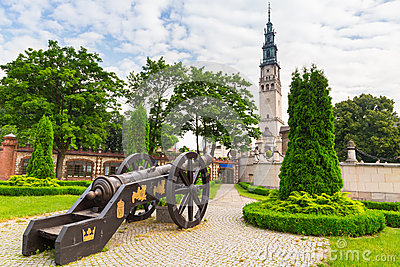 Cannons under Jasna Gora monastery in Czestochowa