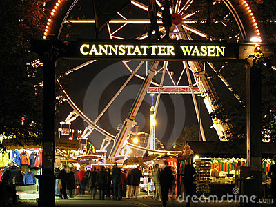 Cannstatter Wasen main gate Editorial Photography