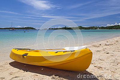 Canoe on beach