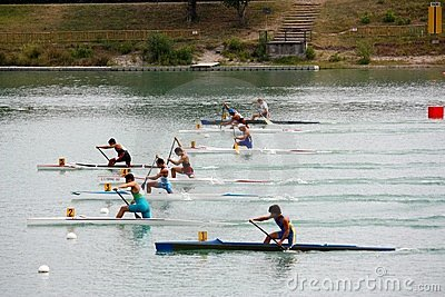 Canoe and Kayak Italian Championships Editorial Stock Image