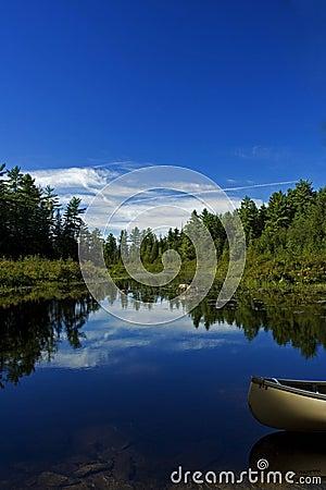 Canoe in a lake