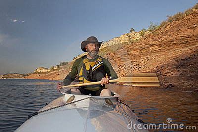 Canoe paddling in Colorado