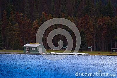 Canoe rentals on a lake