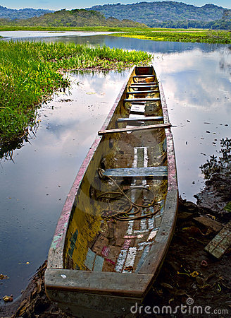 Canoe at Rivers Edge, Panama