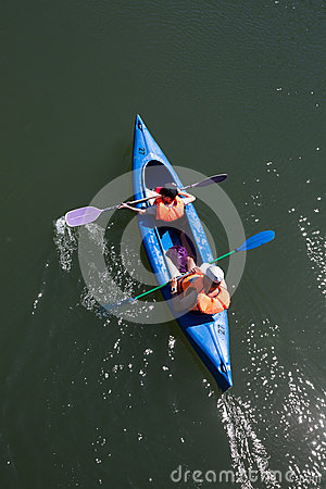Free Canoe Trip Royalty Free Stock Image - 55107376