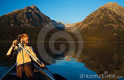 Canoeing in the Grand Teton