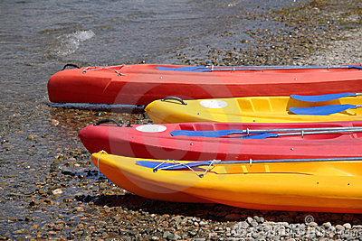 Canoes at the beach