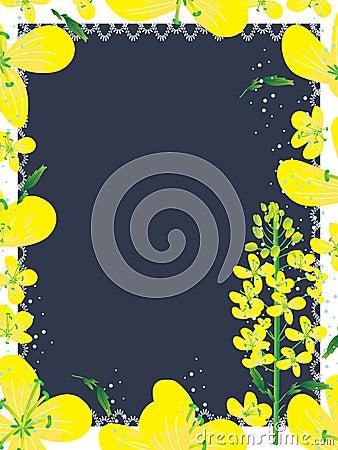 Canola Flowers Frame_eps