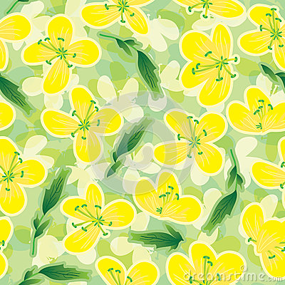 Canola Flowers Seamless Pattern_eps