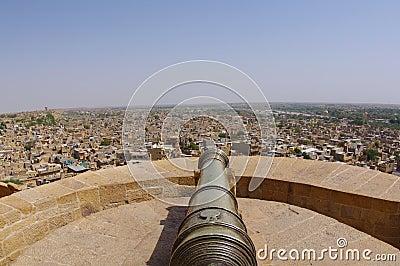 Canon on Jaisalmer Fort Rampart