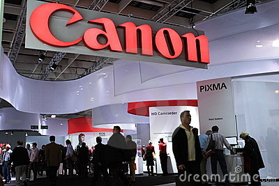 Canon at Photokina 2008 Editorial Stock Photo