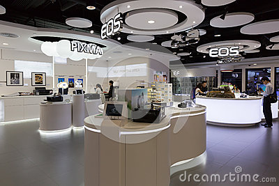 Canon Showroom in Hong Kong Editorial Image