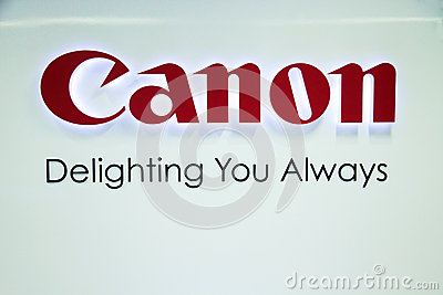 Canon Sign Editorial Photo