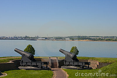 Canons at Fort McHenry