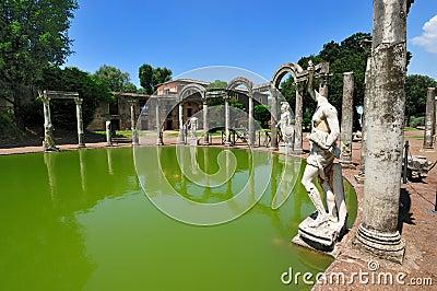 The Canopo in Hadrian Villa, Tivoli - Rome, Italy