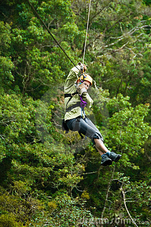 Free Canopy Tour Royalty Free Stock Image - 4244466