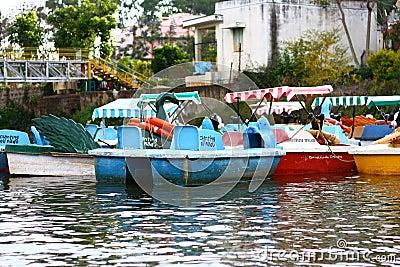 Canotage du tourisme de l Inde Image stock éditorial