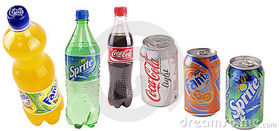 Cans with beverages Editorial Stock Image