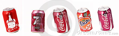 Cans of beverages Editorial Image