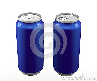 Cans blue