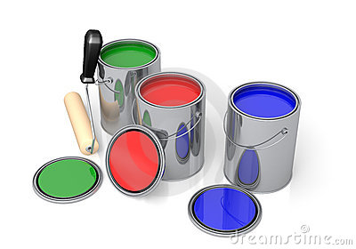Cans Of Paint Royalty Free Stock Image - Image: 22739296