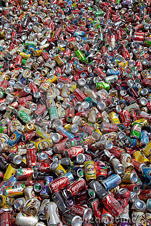 Cans for recycling Editorial Photo