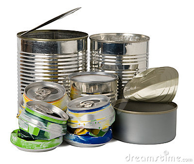 Cans and tins