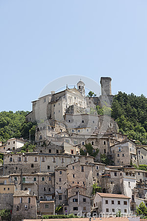 Cantalice church and old buildings, Rieti