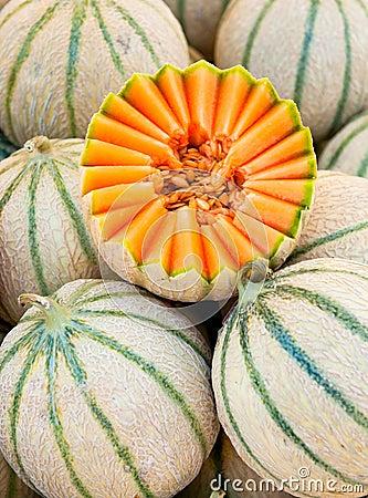 Free Cantaloupe Melons Royalty Free Stock Image - 10170216