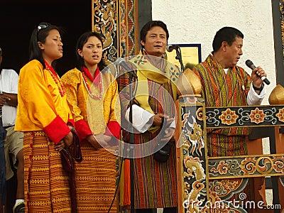 Cantando alla folla Fotografia Editoriale