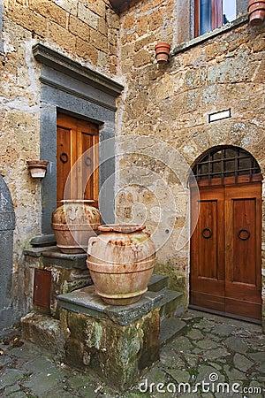 Canto italiano velho da cidade