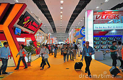 Canton fair electronics hall 10.3 Editorial Stock Photo