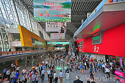 Canton fair hall 9.2 entrance Editorial Stock Image
