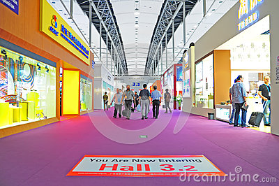 Canton fair pavillion 3.2 Editorial Stock Photo