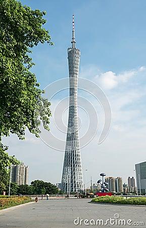 Free Canton Tower Guangzhou Royalty Free Stock Photos - 46041288