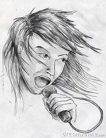 Cantor da estrela do rock
