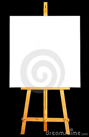 Royalty Free Stock Photography: Canvas Easel. Image: 6010017