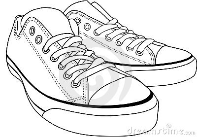 Converse Sneakers Stock Illustrations – 50 Converse Sneakers Stock ...