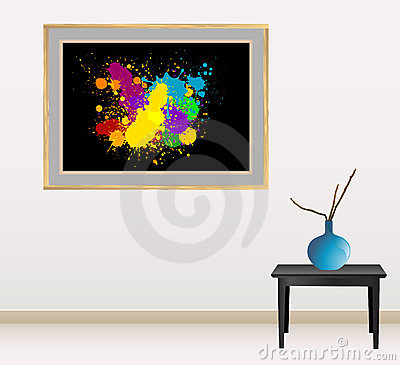 Canvas with splash design