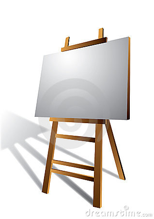Canvas on Wooden Art Easel