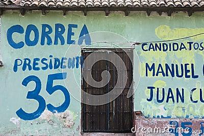 Canvassing in Ecuador Editorial Stock Image