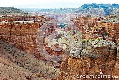 Canyon of Charyn in Kazakhstan