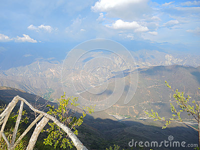 The canyon of Chicamocha.