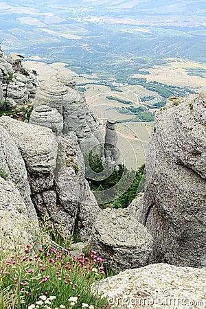 Canyon in Crimea, Ukraine